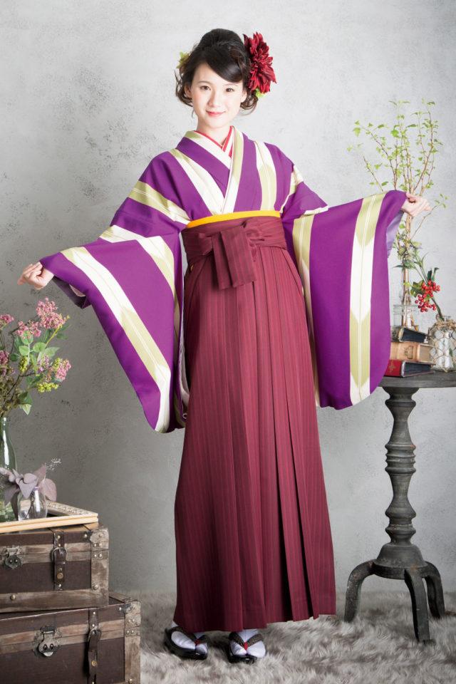 着物:JS紫矢羽 袴:Sエンジ